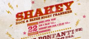 Shakey rock & blues night 22 feb 2020